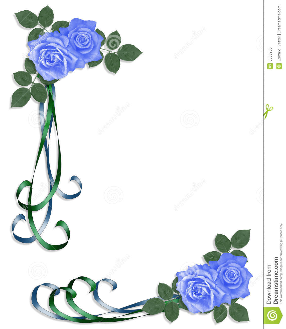 Hacer Un Plano Online Blue Roses Wedding Invitation Royalty Free Stock Photo
