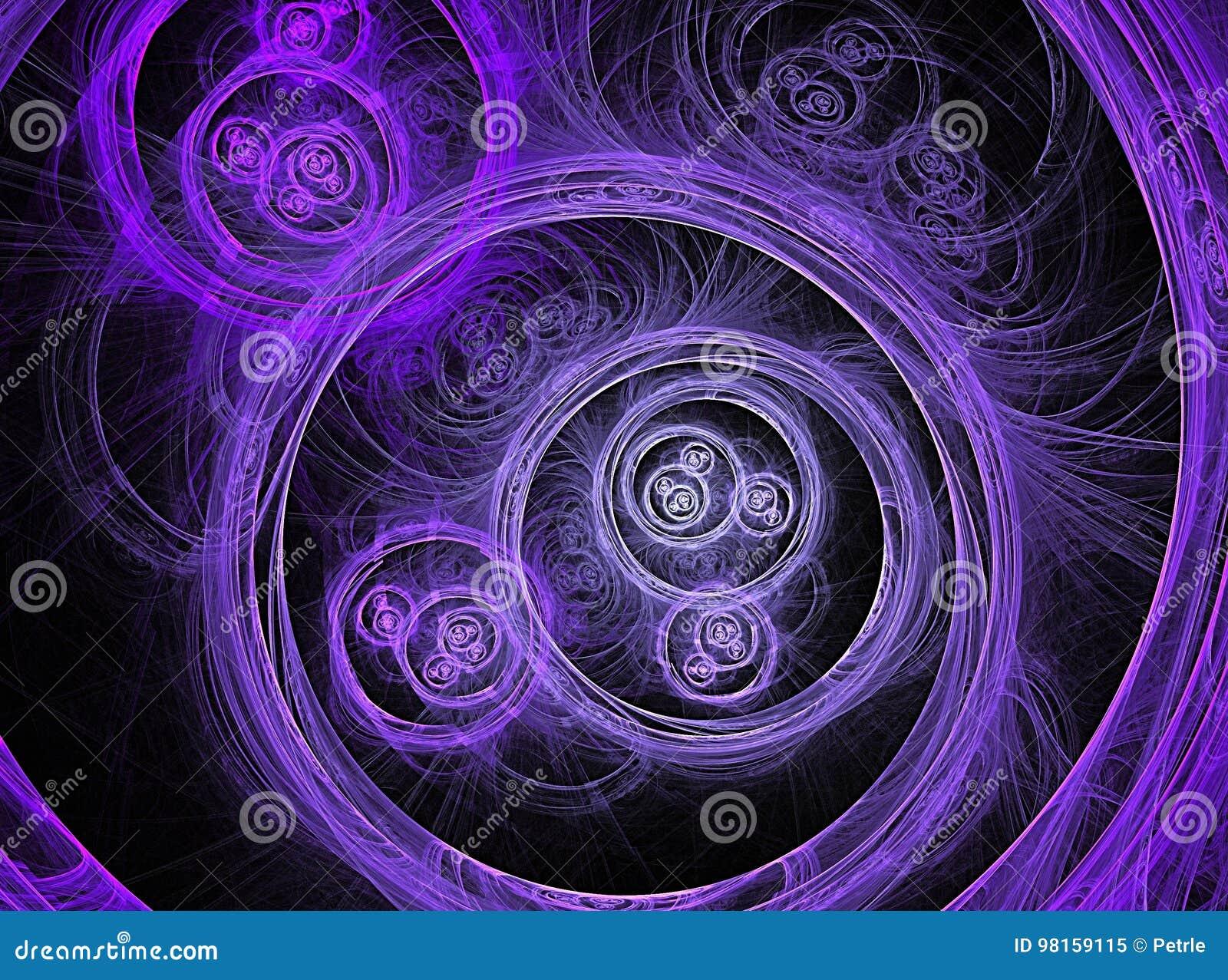 Blue round fractal