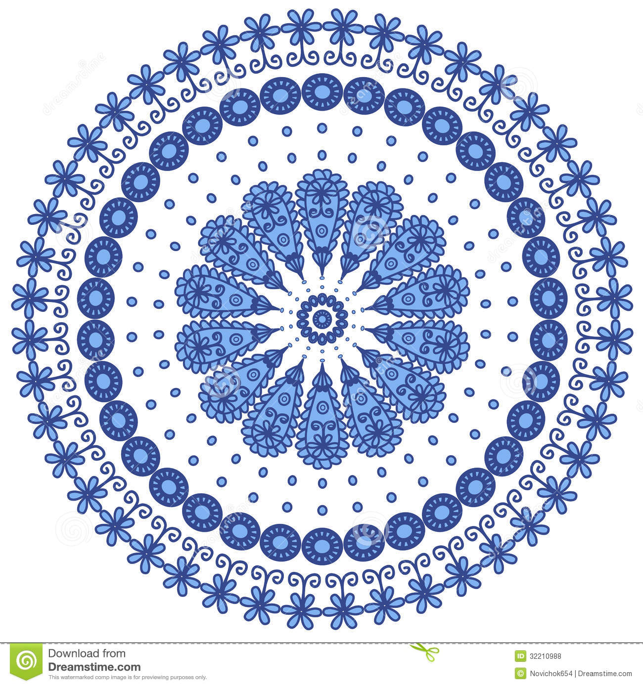Lace doily henna flower vector illustration design - Blue Round Lace Royalty Free Stock Photos Image 32210988