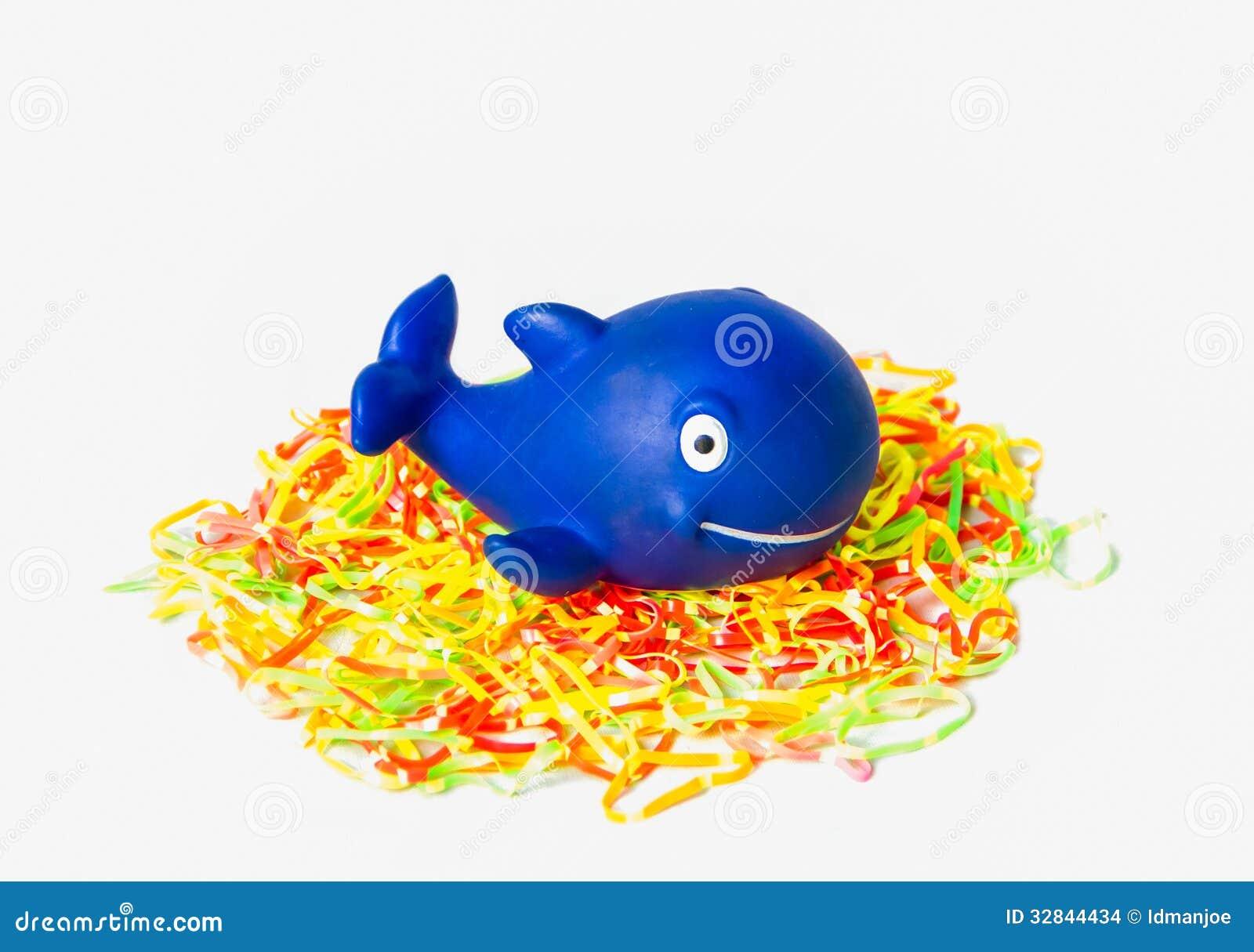 Blue rubber whale