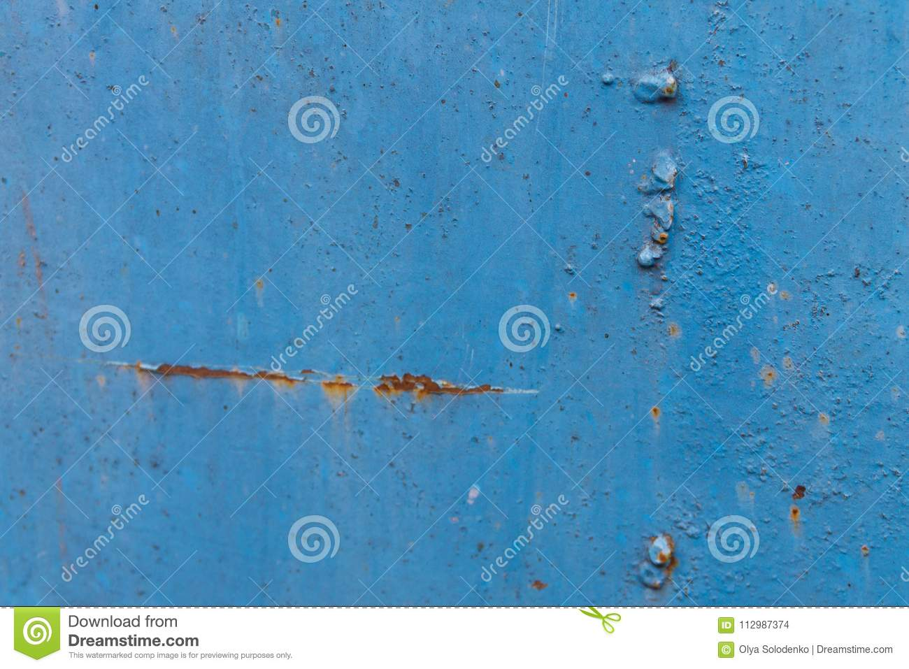 Blue rusty metal texture