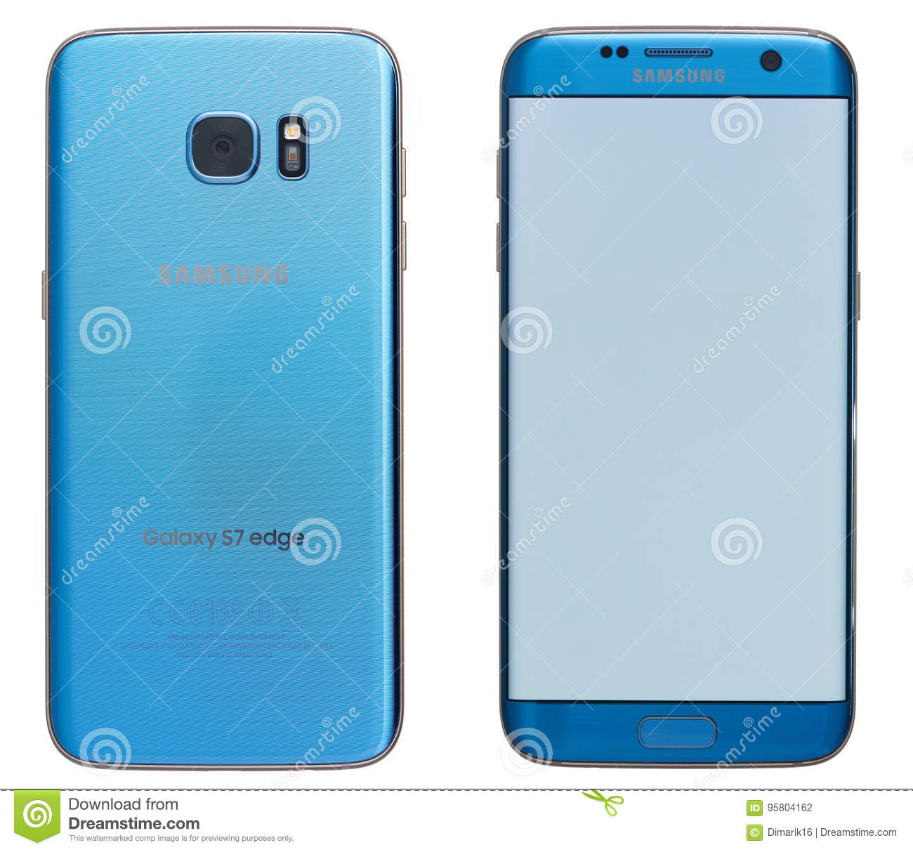 Blue Samsung Galaxy S7 Edge Smartphone Editorial Photography Image Of Editorial Illustration 95804162