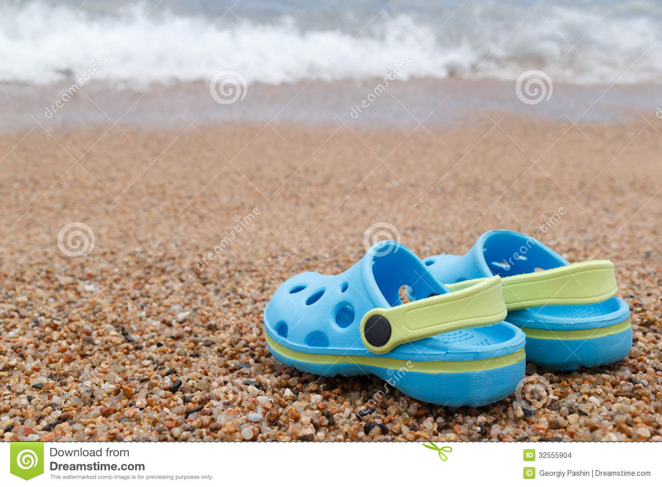 4bfa32793 Blue Sandals Slipper On The Sand Stock Photo - Image of travel ...