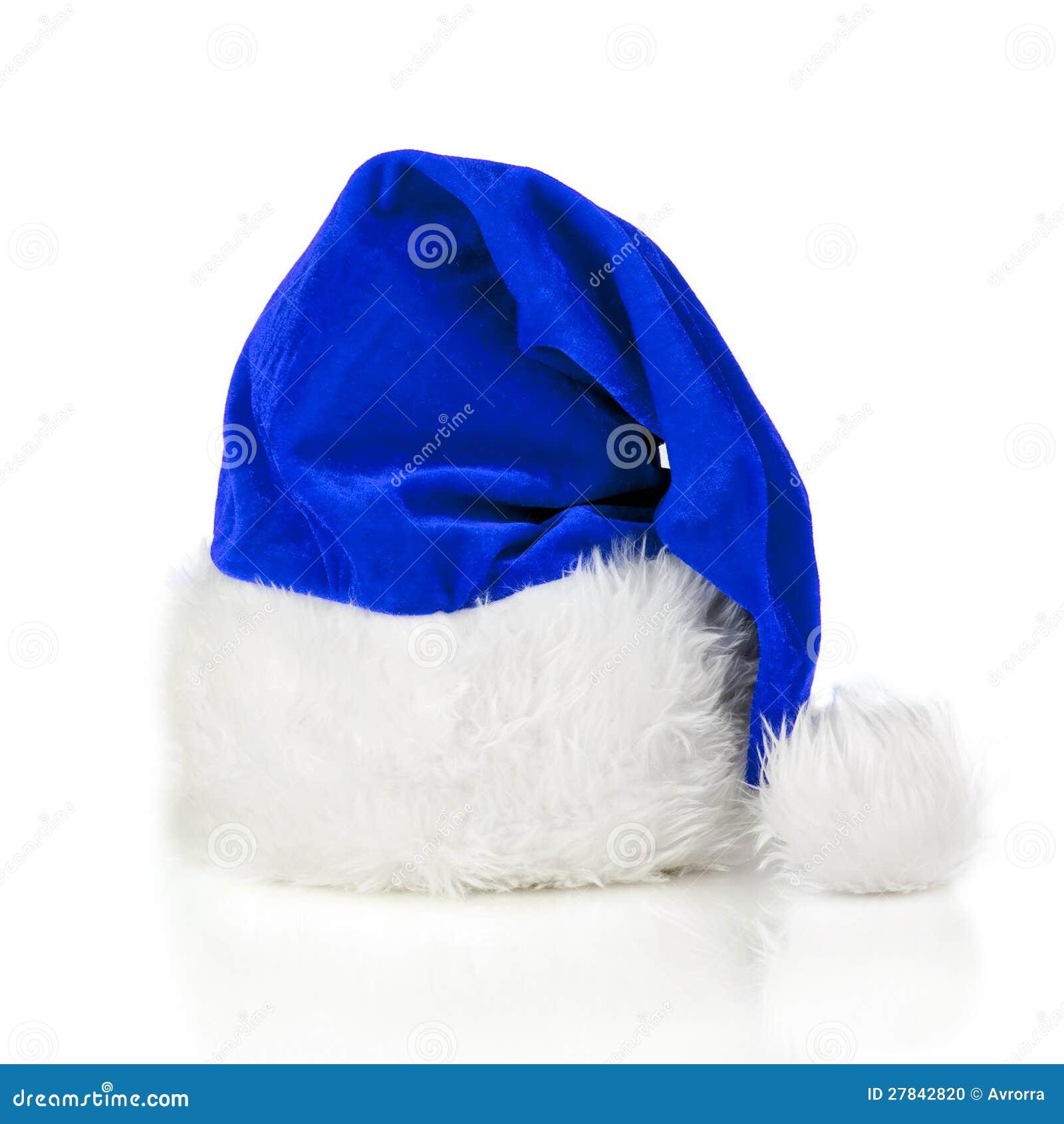 blue santa claus hat stock photo image of present