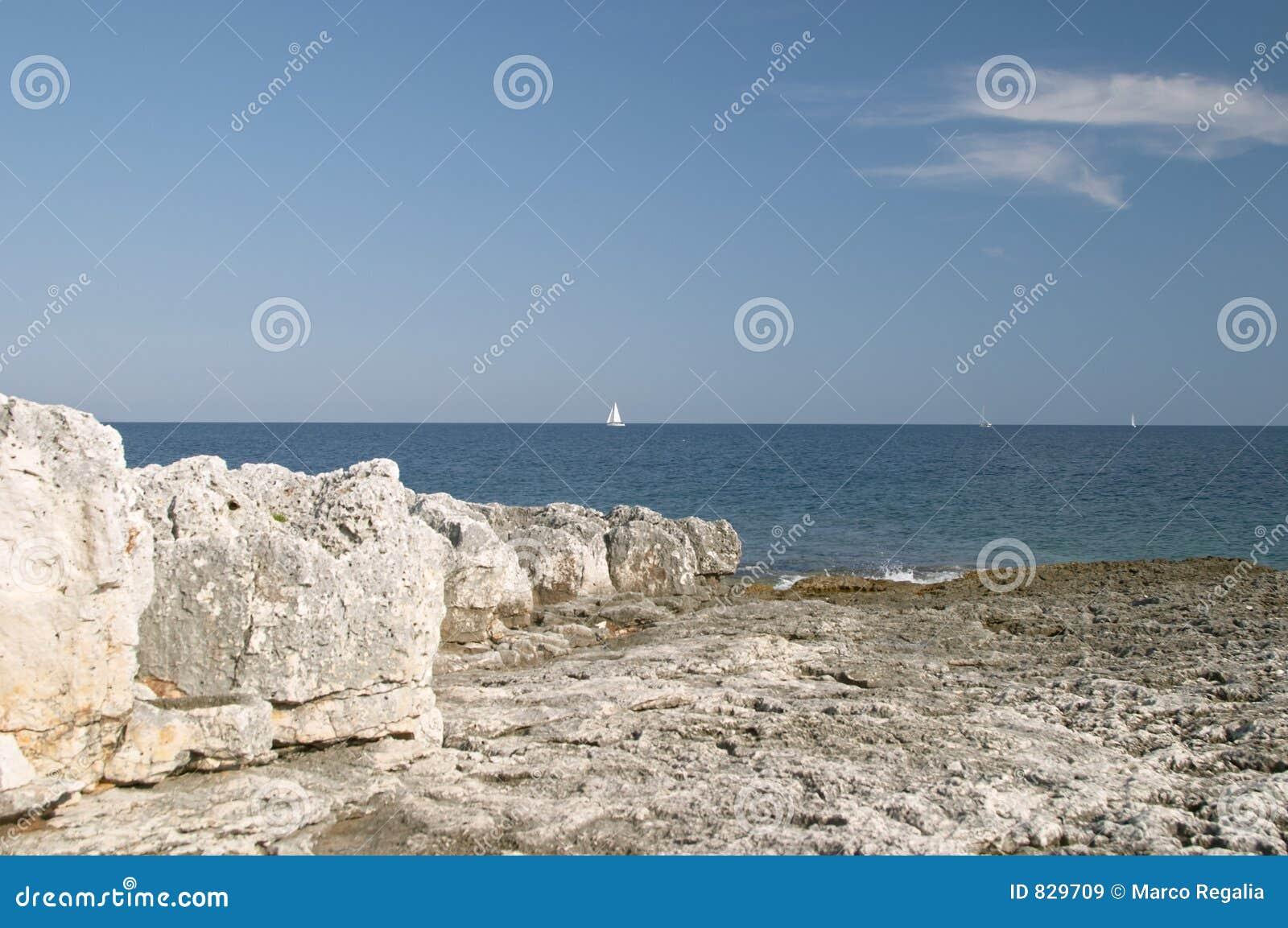 Blue sea coast