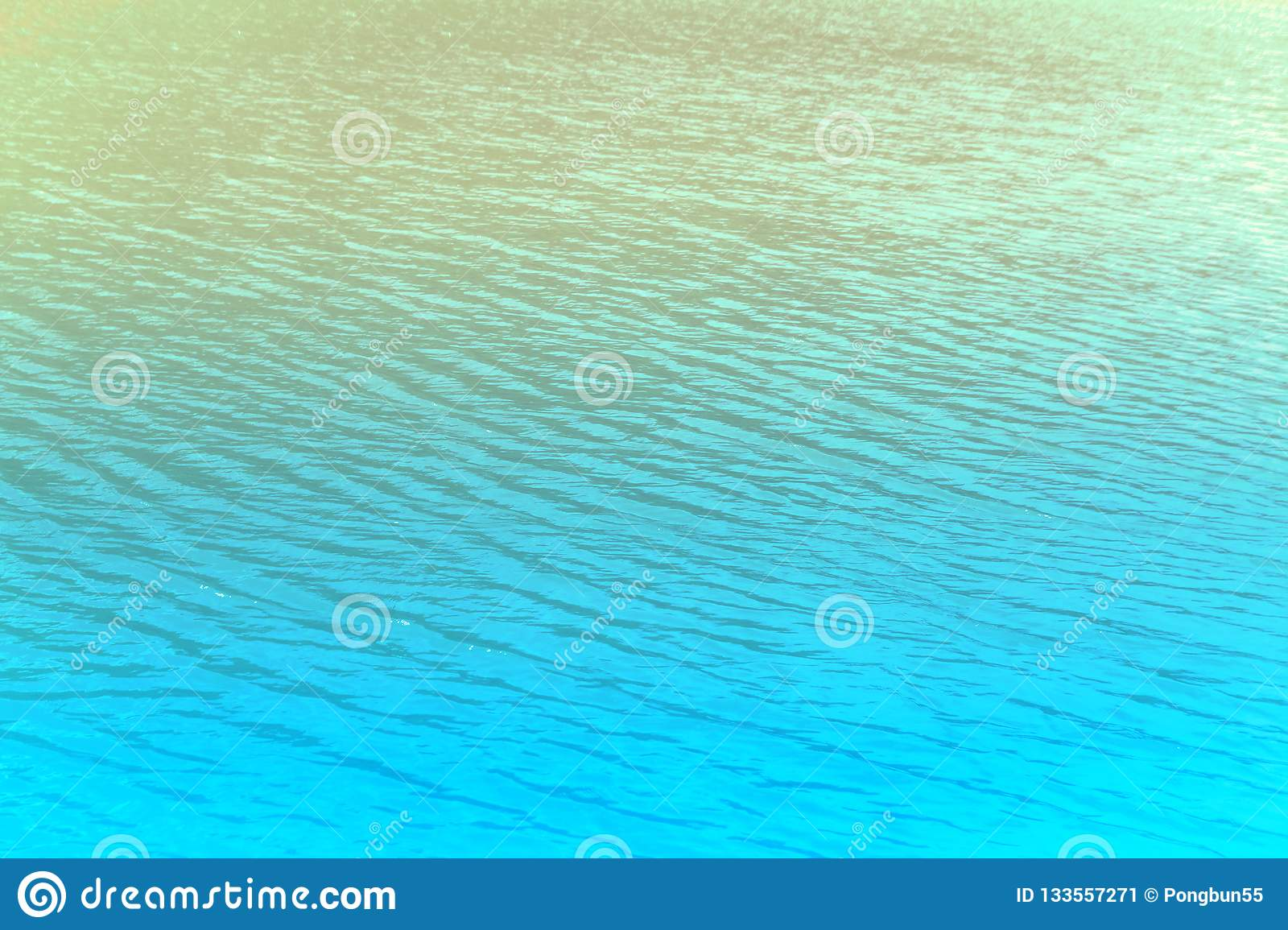 Blue Sea At Sunrise Relax Summer Nature Wallpaper Background Stock