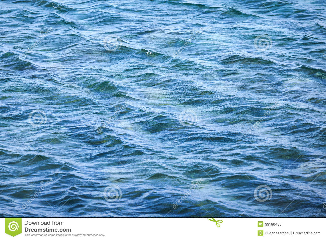 Blue Sea Water Surface With Waves Royalty Free Stock Photo