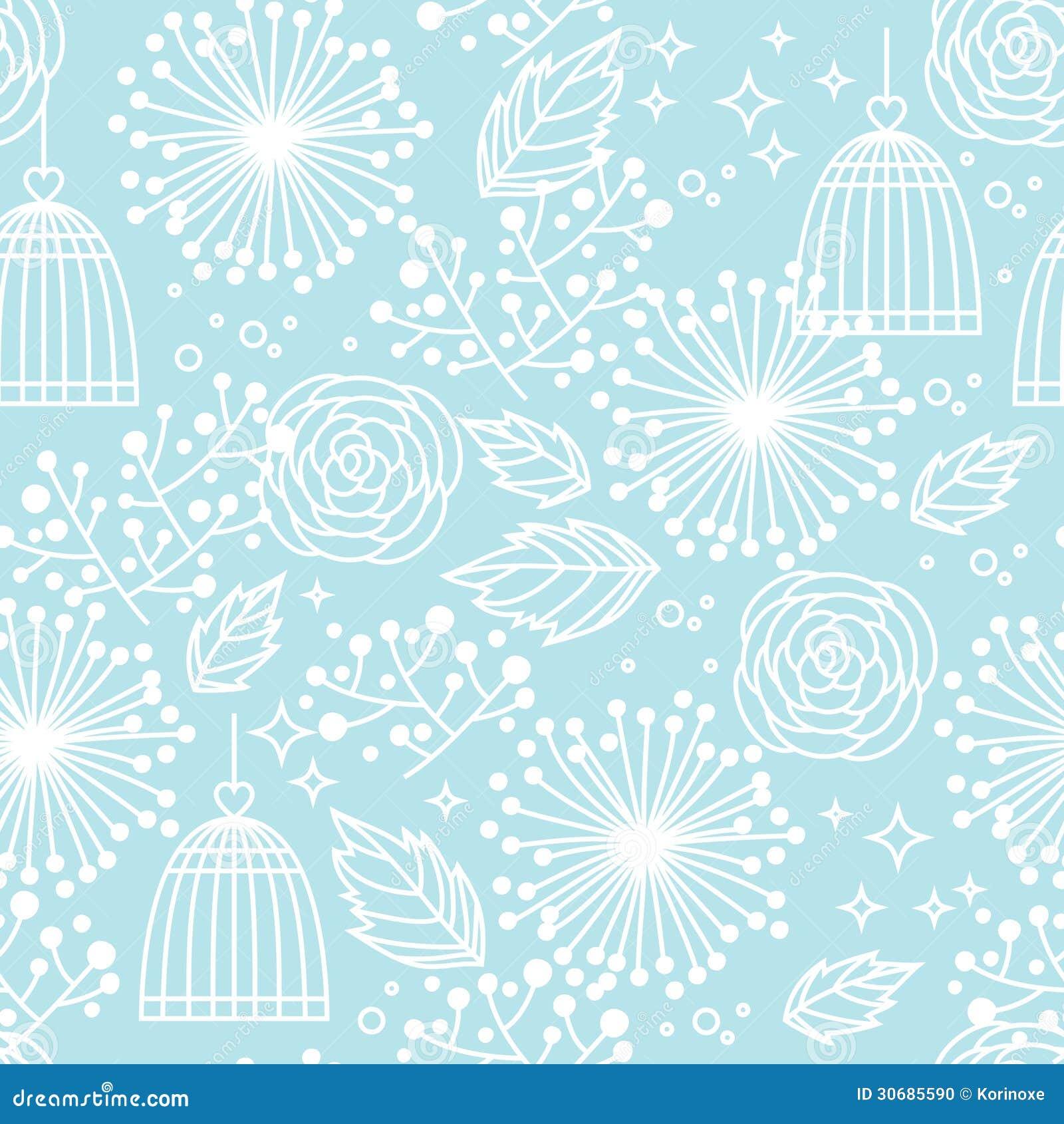 Blue Seamless Floral Pattern Stock Vector Illustration Of Design