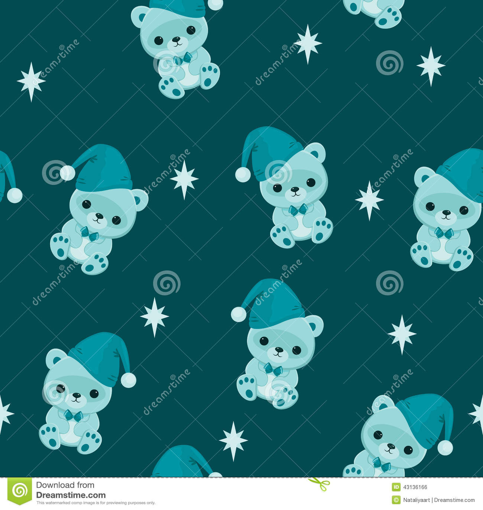 Blue seamless wallpaper with teddy bear stock vector illustration blue seamless wallpaper with teddy bear altavistaventures Images
