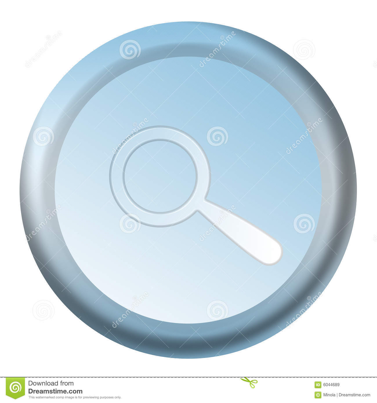 Blue Search Button Royalty Free Stock Images - Image: 6044689