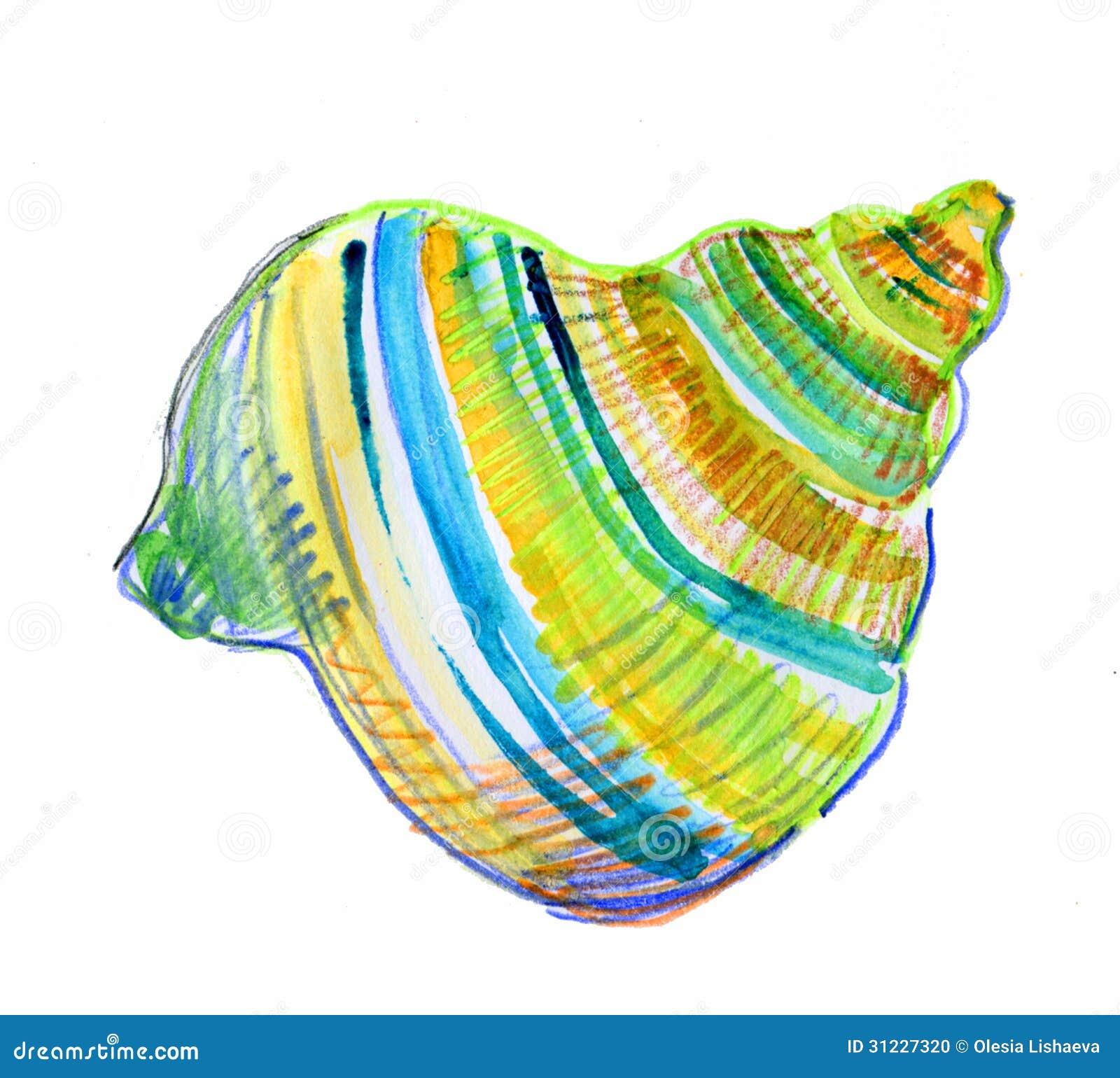 Blue Seashell Stock Photo - Image: 31227320