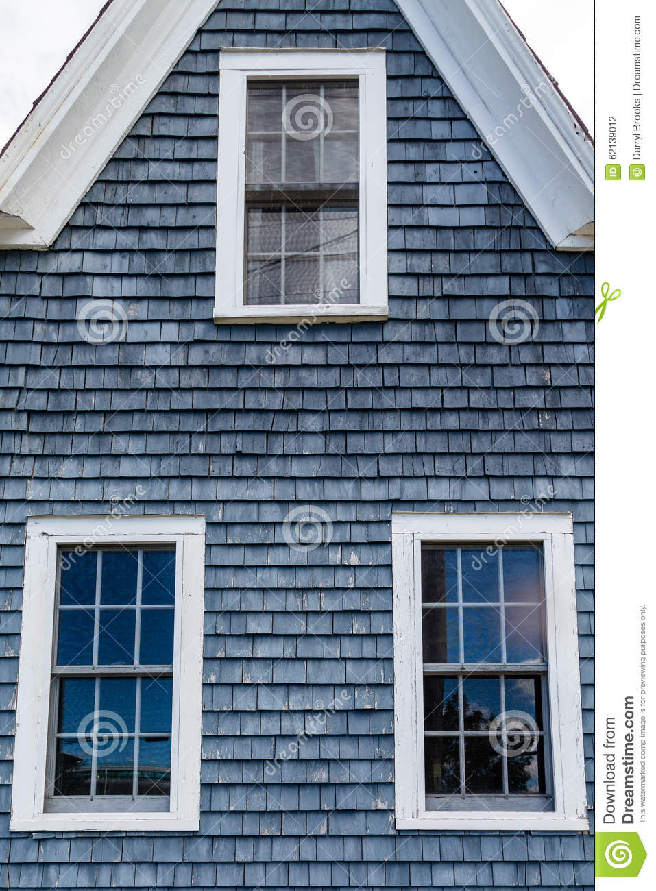 Blue Shaker AFrame stock photo. Image of house, exterior ...