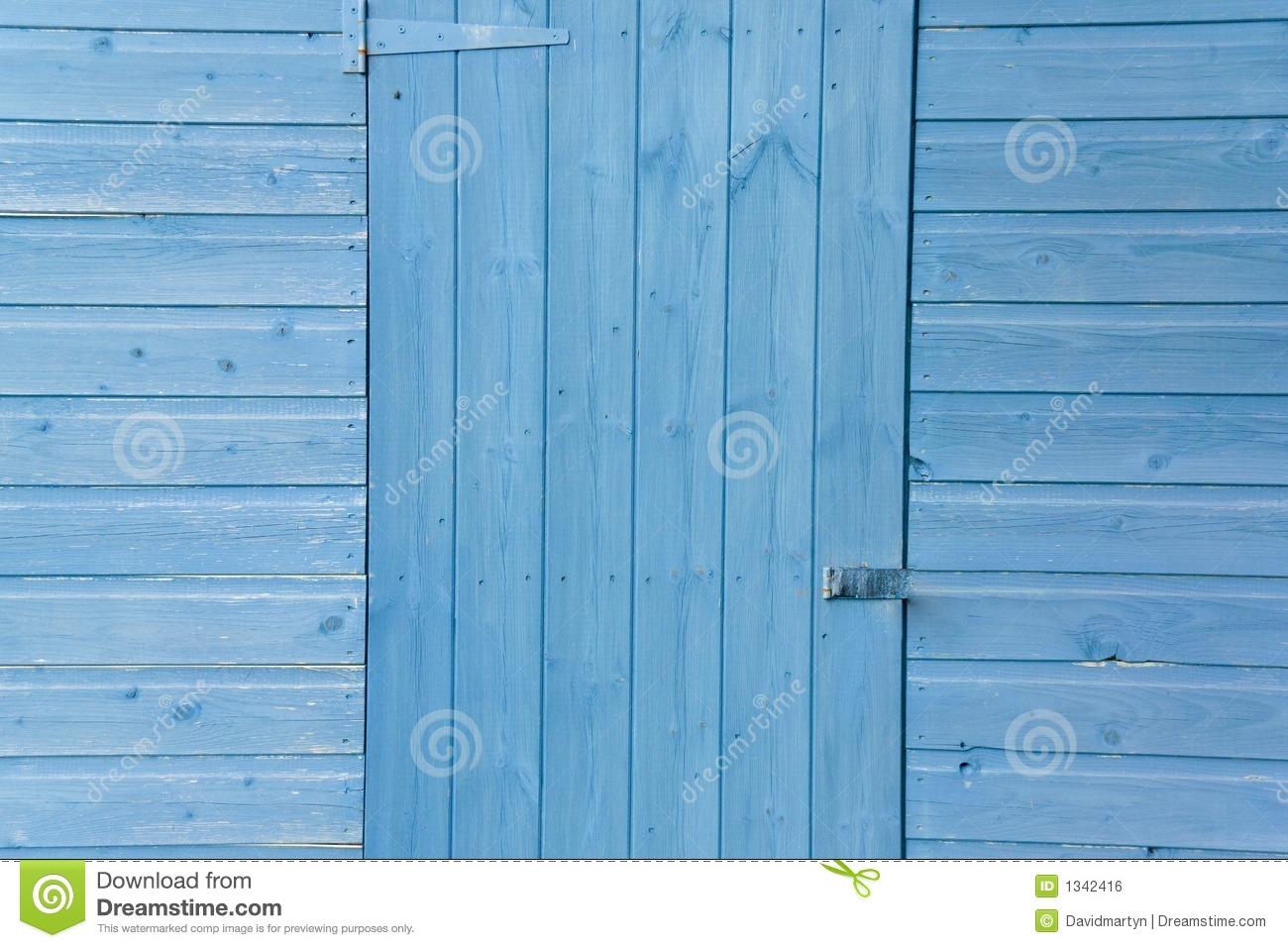 Blue Shed Door Royalty Free Stock Image - Image: 1342416