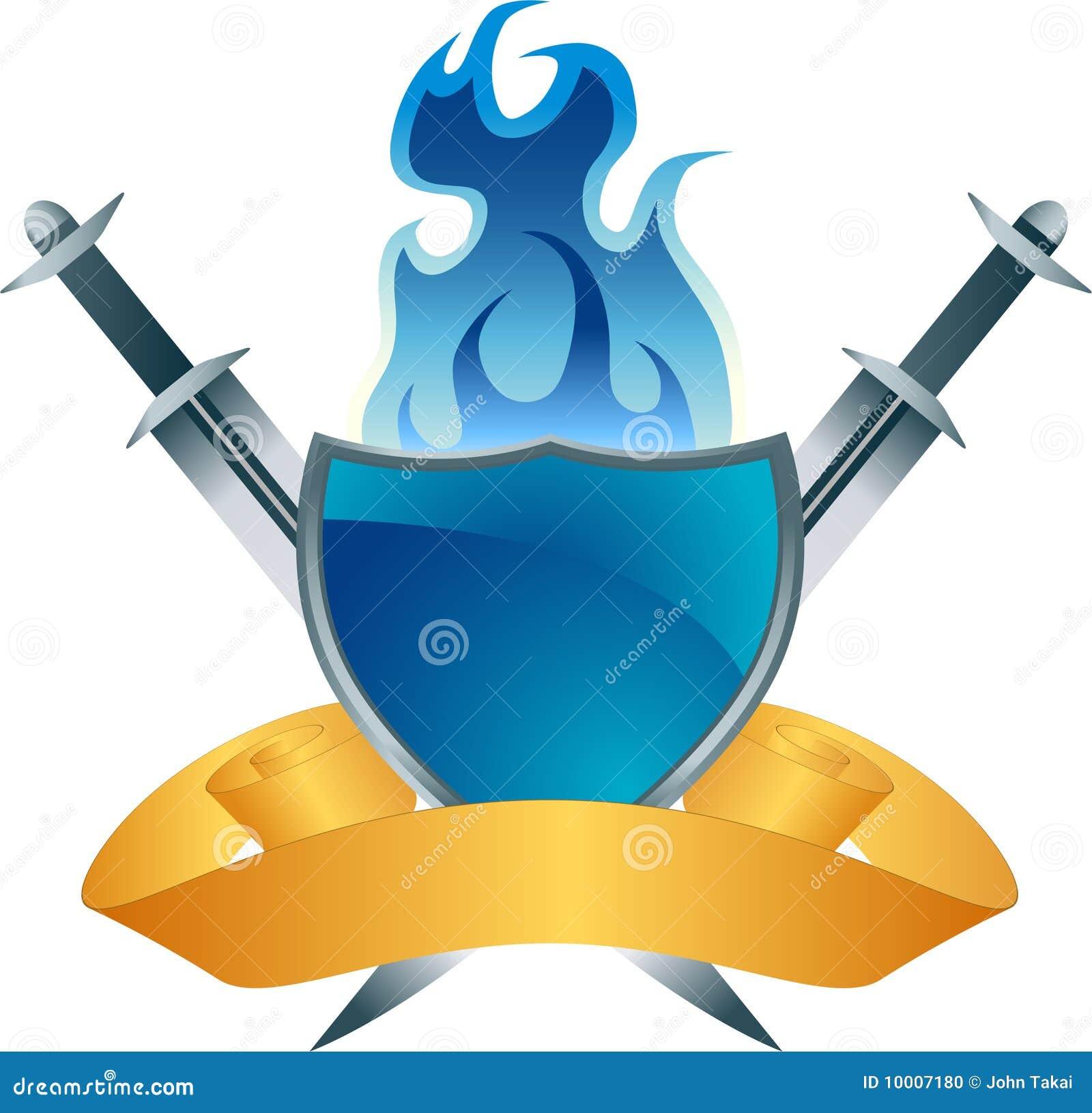 blue shield fire crest stock photo image 10007180