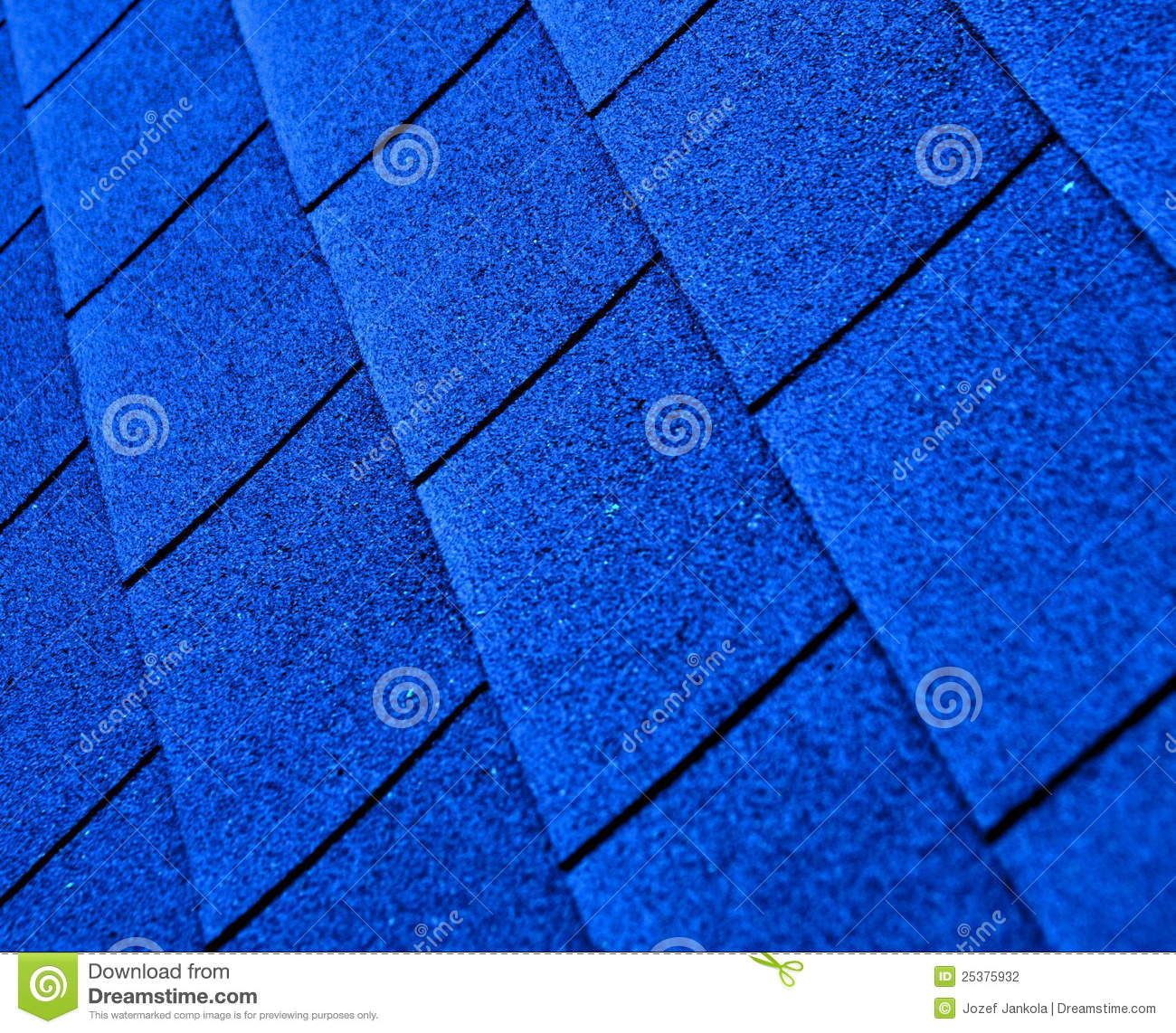 Blue Shingle Roofing Stock Photography Image 25375932
