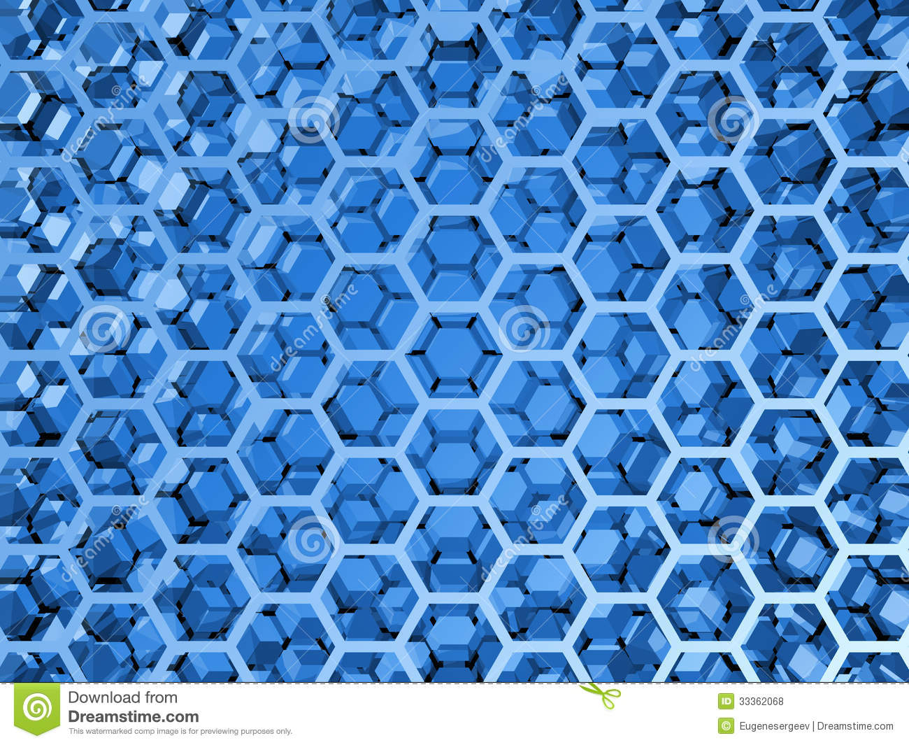3d Gold Honeycomb Pattern