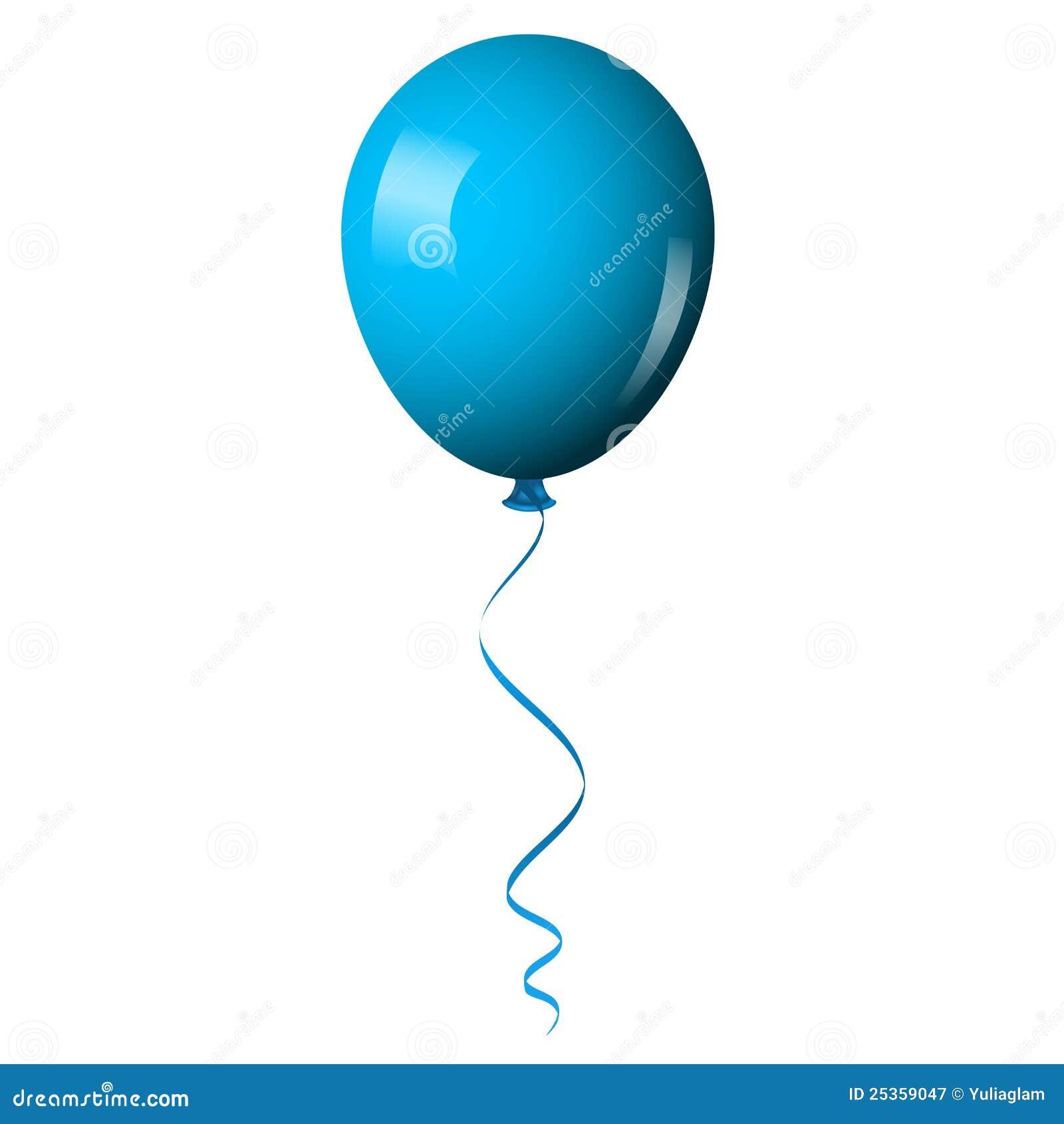 Blue shiny balloon