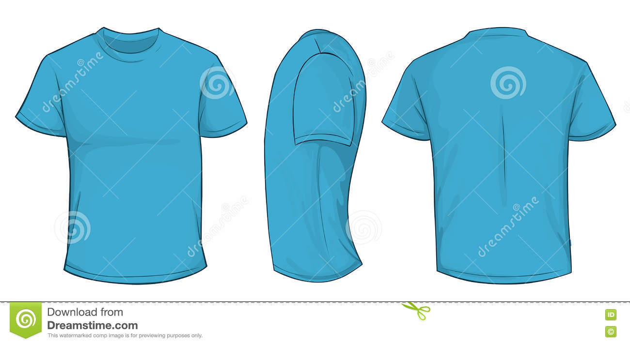 Blue shirt template stock illustration illustration of for Blue t shirt template