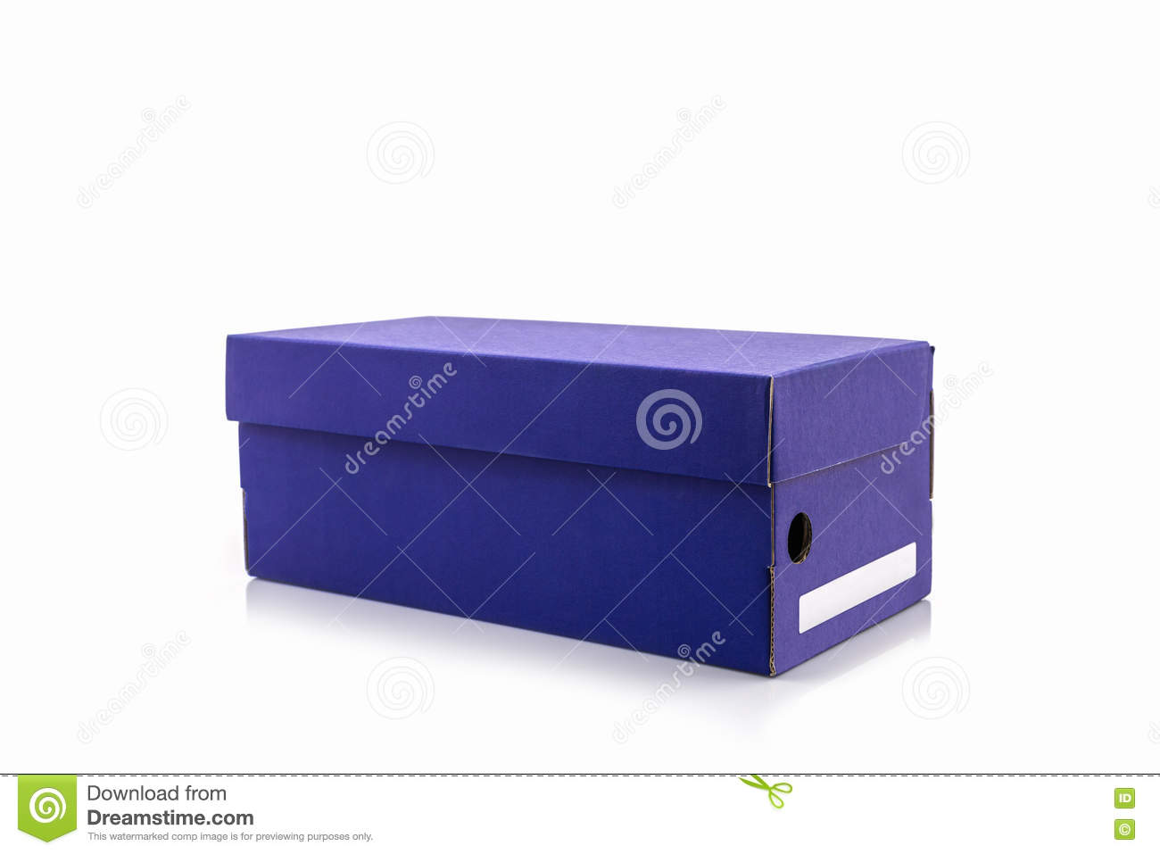 blue shoe box with clipping path stock image image of isolated