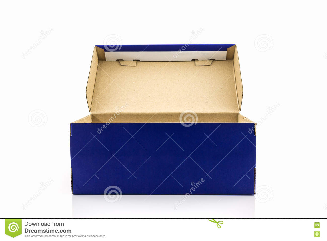 blue shoe box with clipping path stock image image of advertising