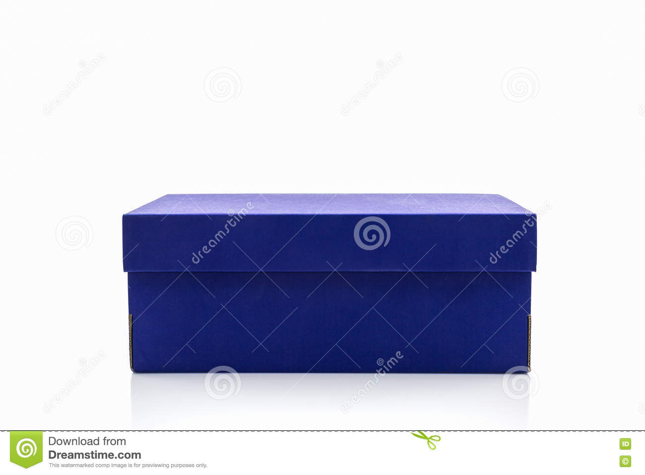 blue shoe box with clipping path stock image image of product