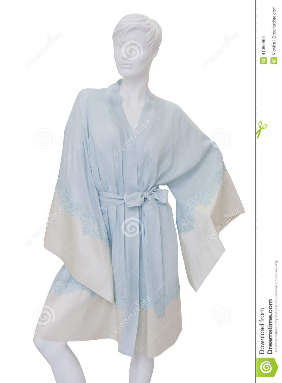 Blue Silk Bathrobe Stock Image Image Of Background Clear 41065993