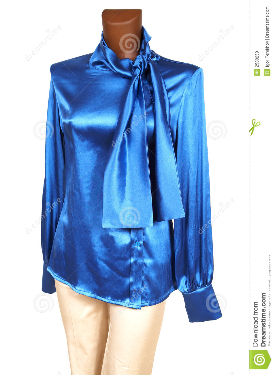Blue silk blouse royalty free stock images image 2509259