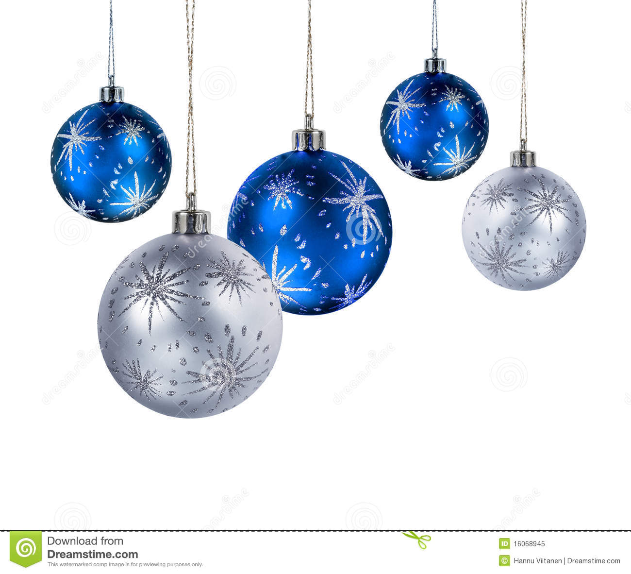 blue silver christmas balls royalty free stock photo. Black Bedroom Furniture Sets. Home Design Ideas