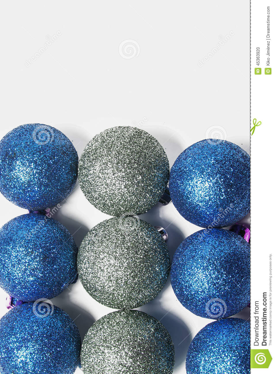 Blue And Silver Christmas Ornament Stock Photo Image Of Closeup