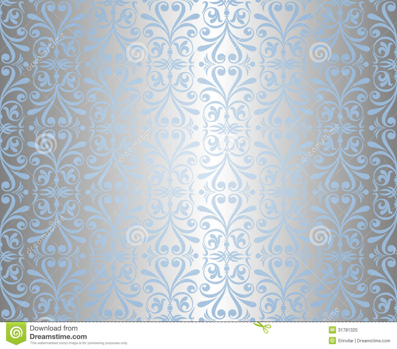 Blue Silver Holiday Background