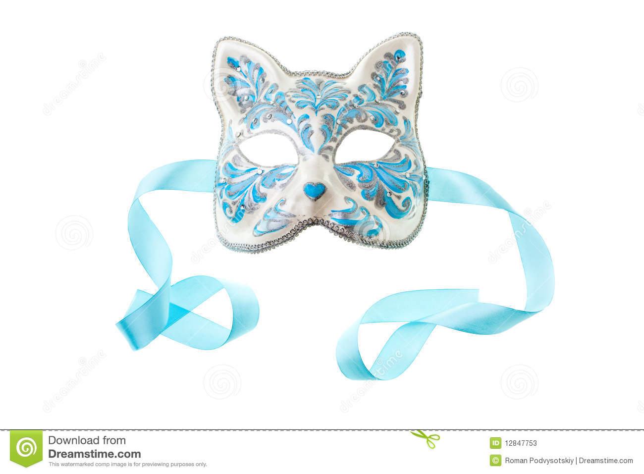 Blue and silver mask