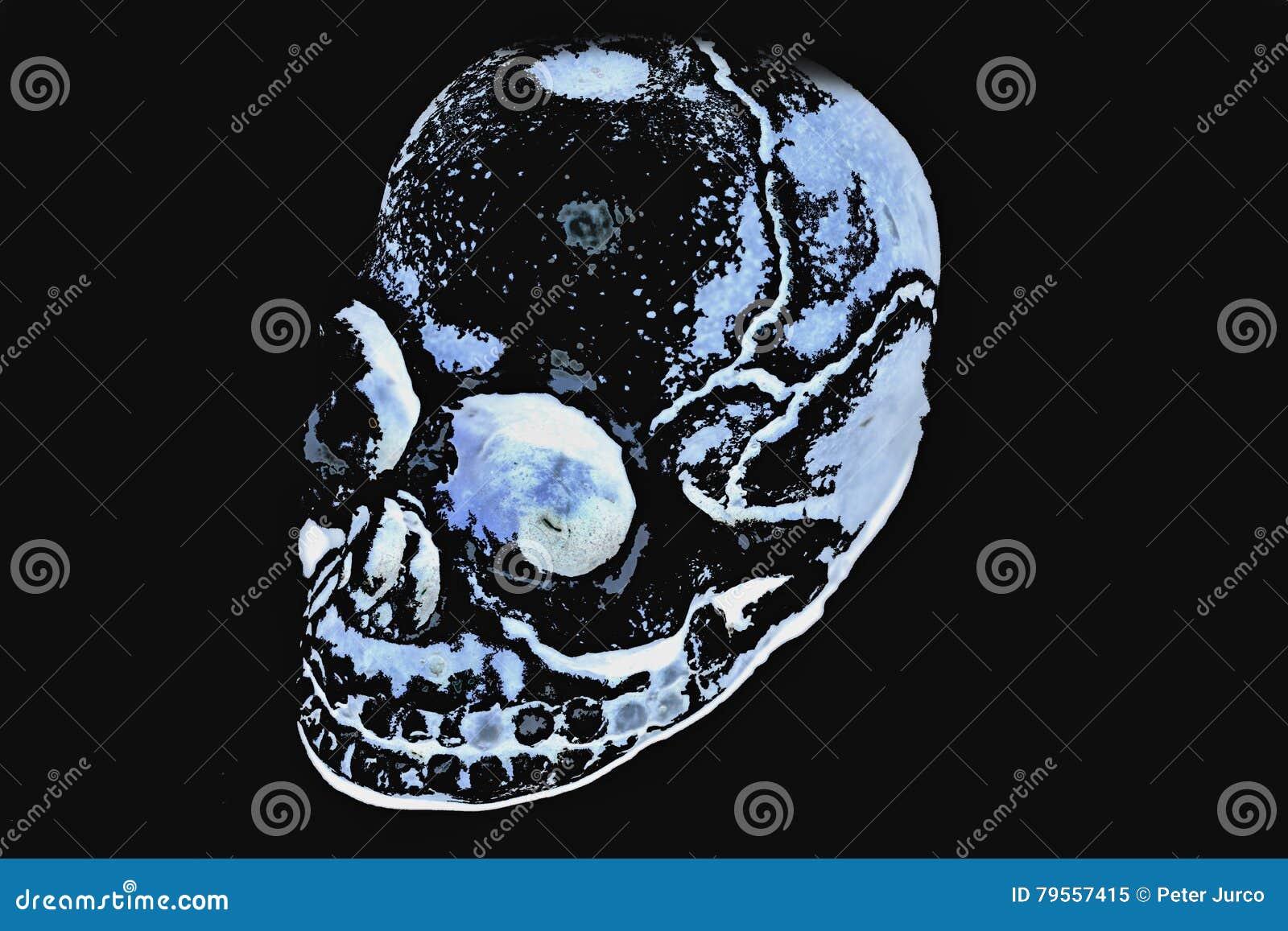 Download Blue Skull stock illustration. Illustration of front - 79557415