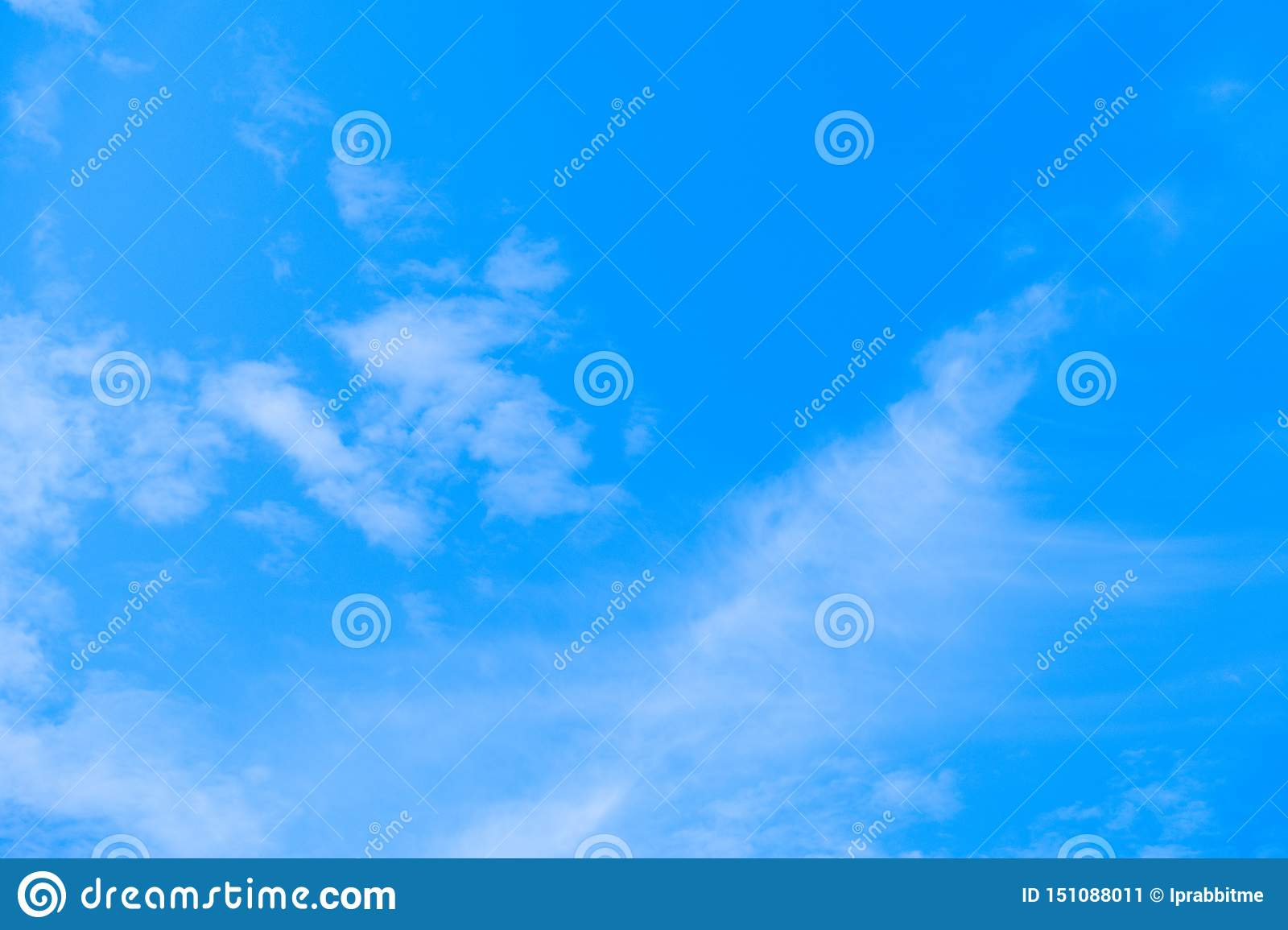 Blue sky and air white clouds background