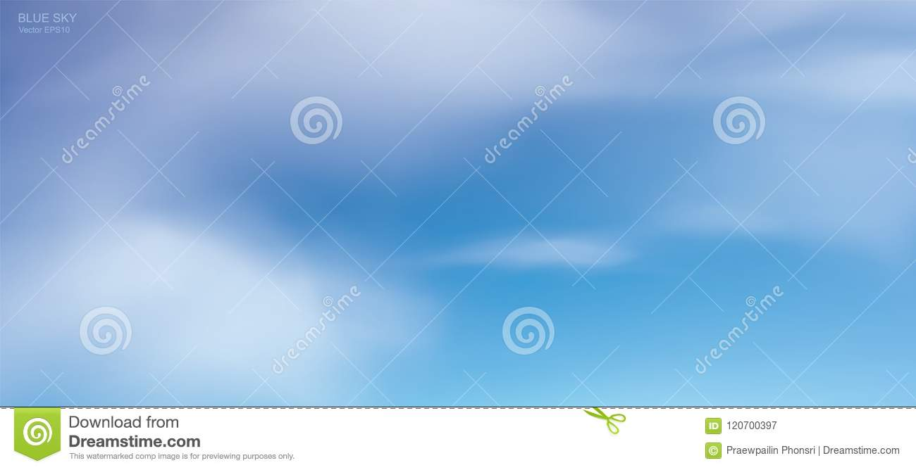 Blue sky background with white clouds. Abstract sky for natural background.