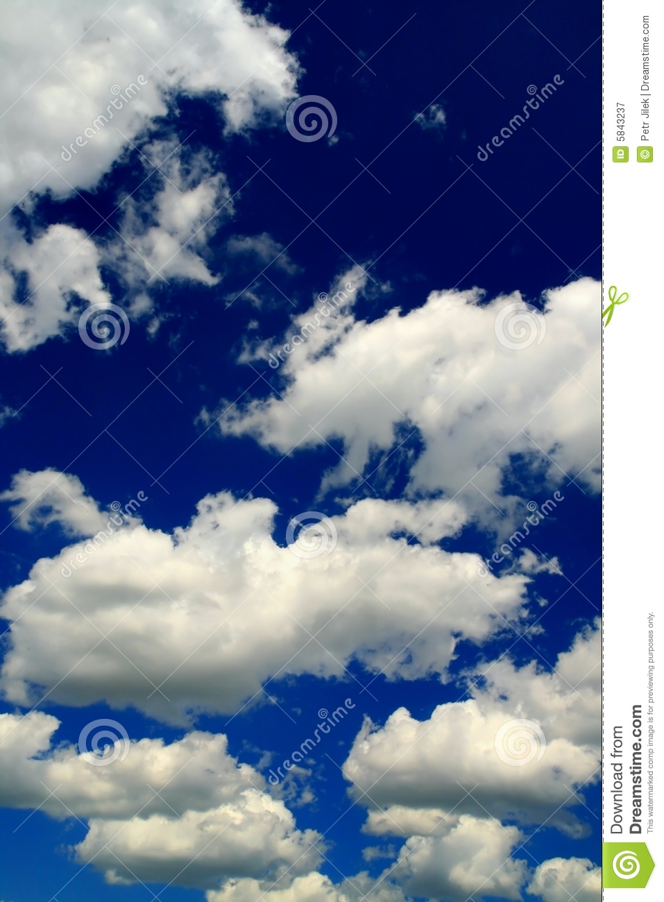 Blue Sky And Beauty White Clouds Royalty Free Stock ...