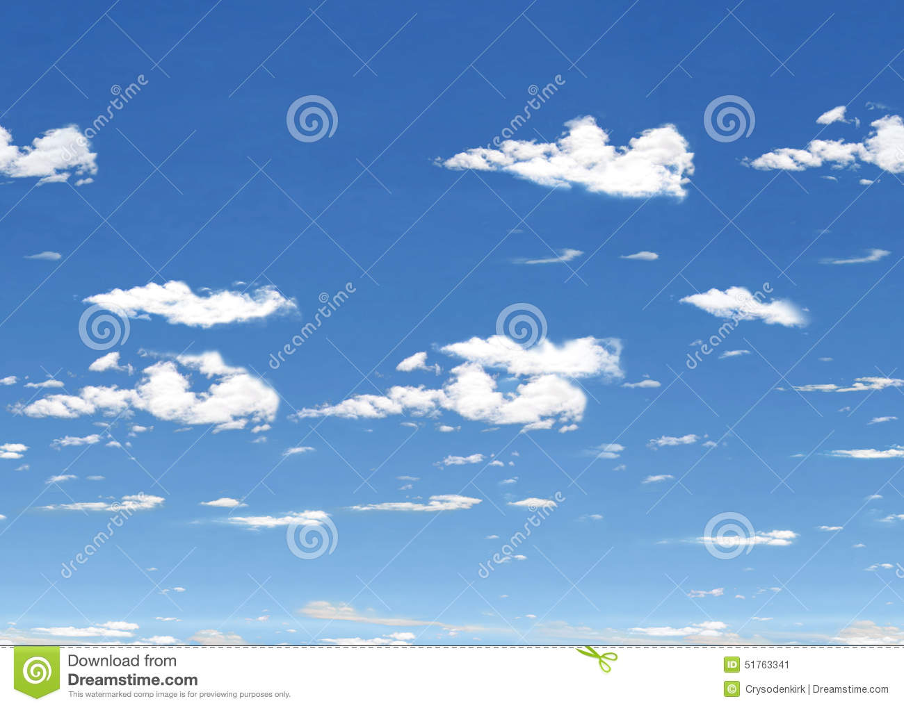Blue Sky with Clouds Horizontal Tile
