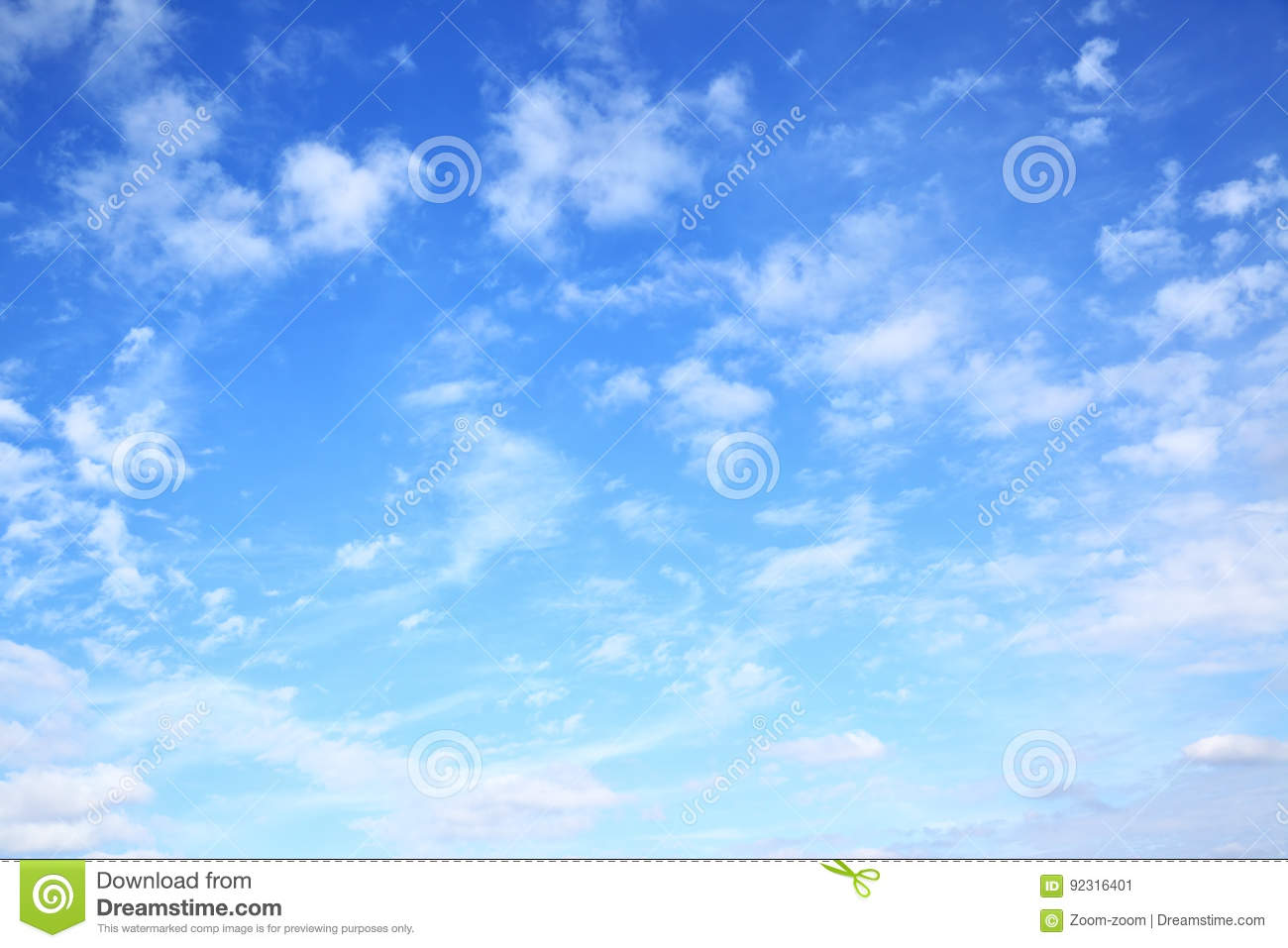 Download Blue sky with clouds stock image. Image of copyspace - 92316401