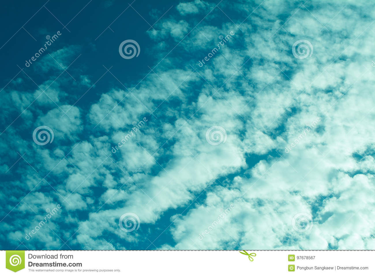 blue sky with clouds nature relax wallpaper background stock image