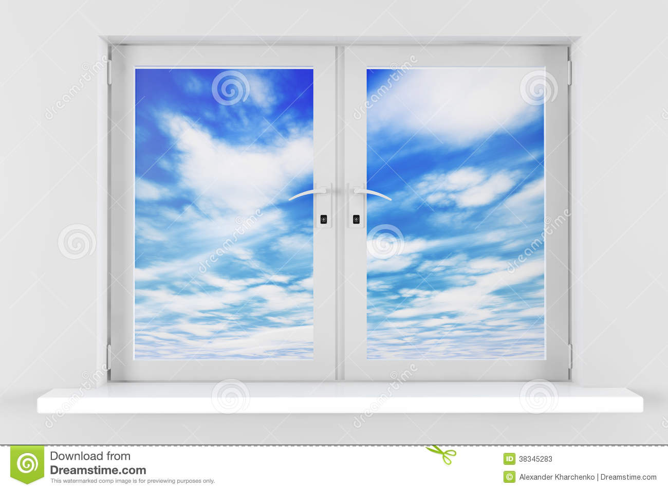 Blue Sky With Clouds Seen Through Window Stock Photos ... Relaxing Dog Music Audio