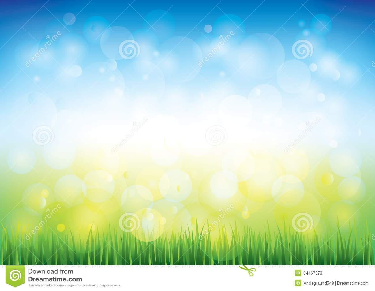 Blue Sky And Grass Vector Background Stock Vector ...