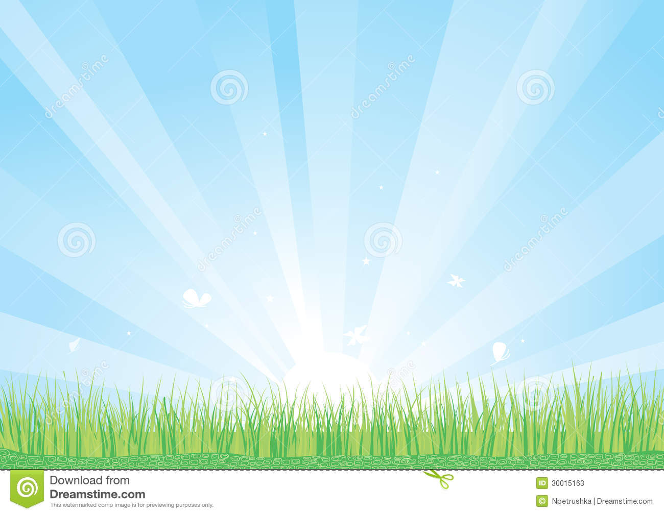 Blue Sky And Green Grass Background Stock Photos - Image ...