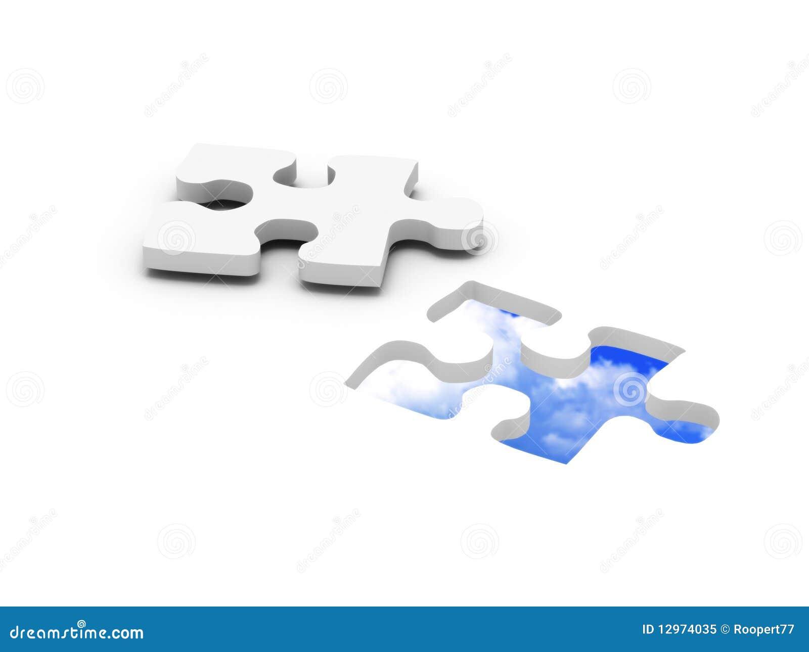 Blue sky jigsaw puzzle