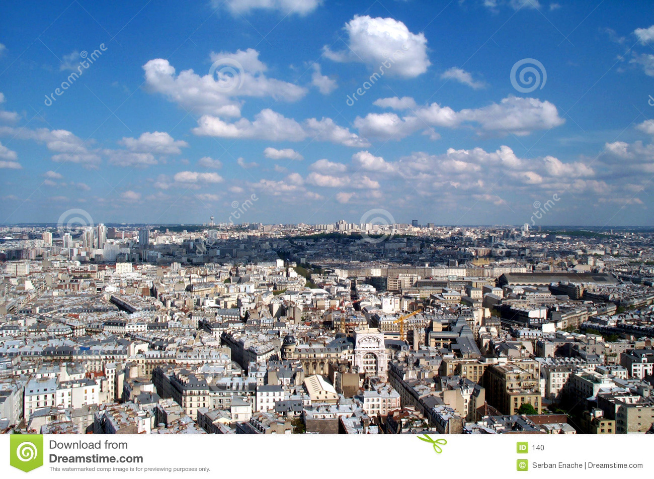 Blue sky over Montmartre 2