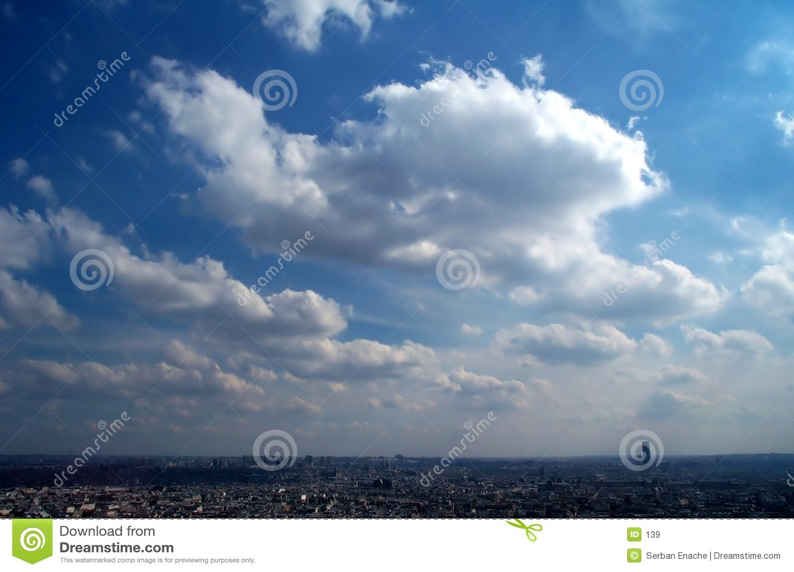 Blue sky over Paris