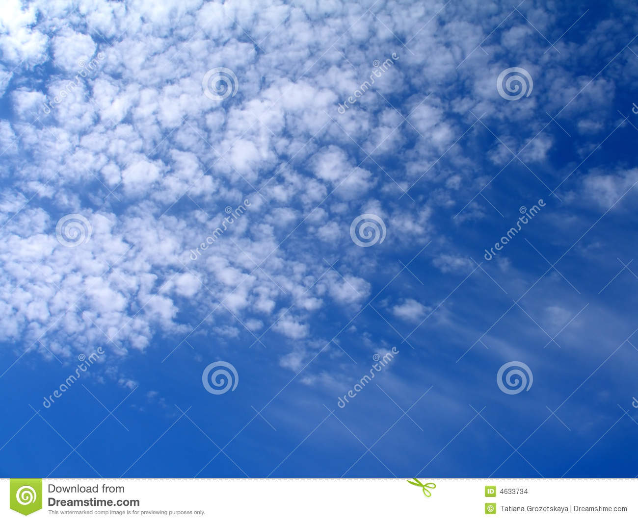 Blue sky and white clouds - background