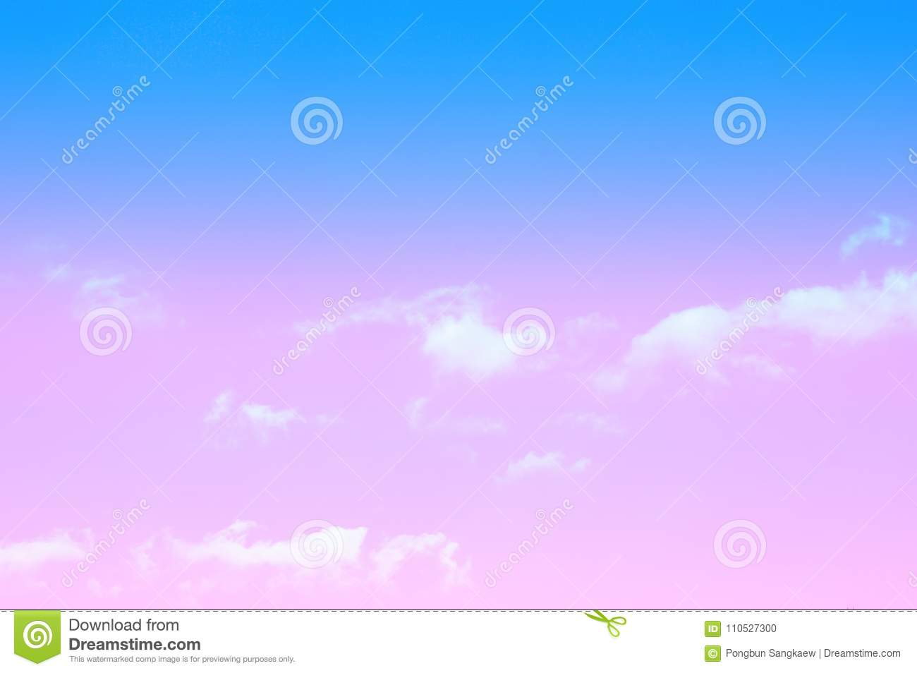 Blue sky and white clouds relax photo pastel color wallpaper
