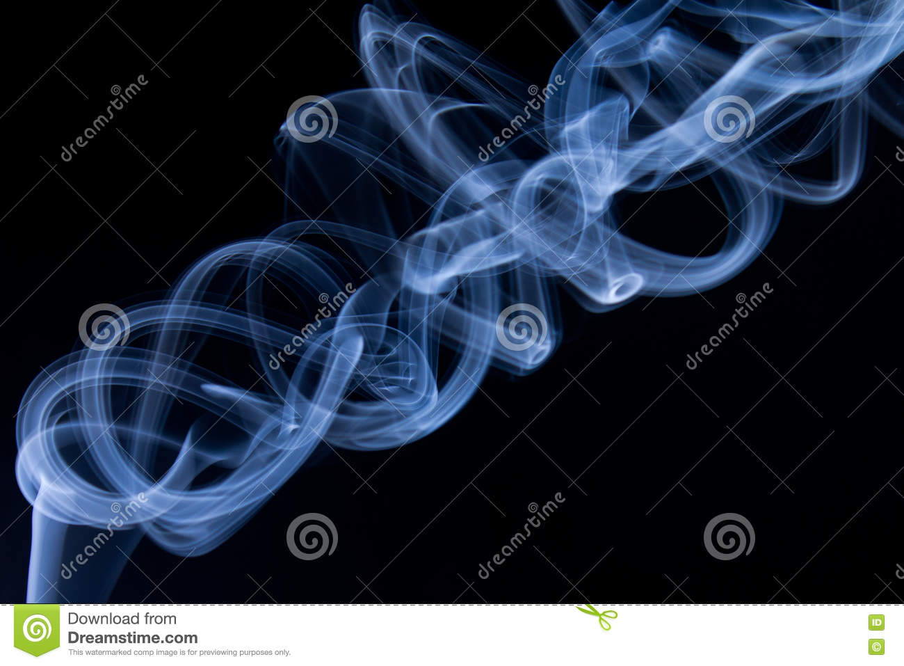 Blue Smoke abstract