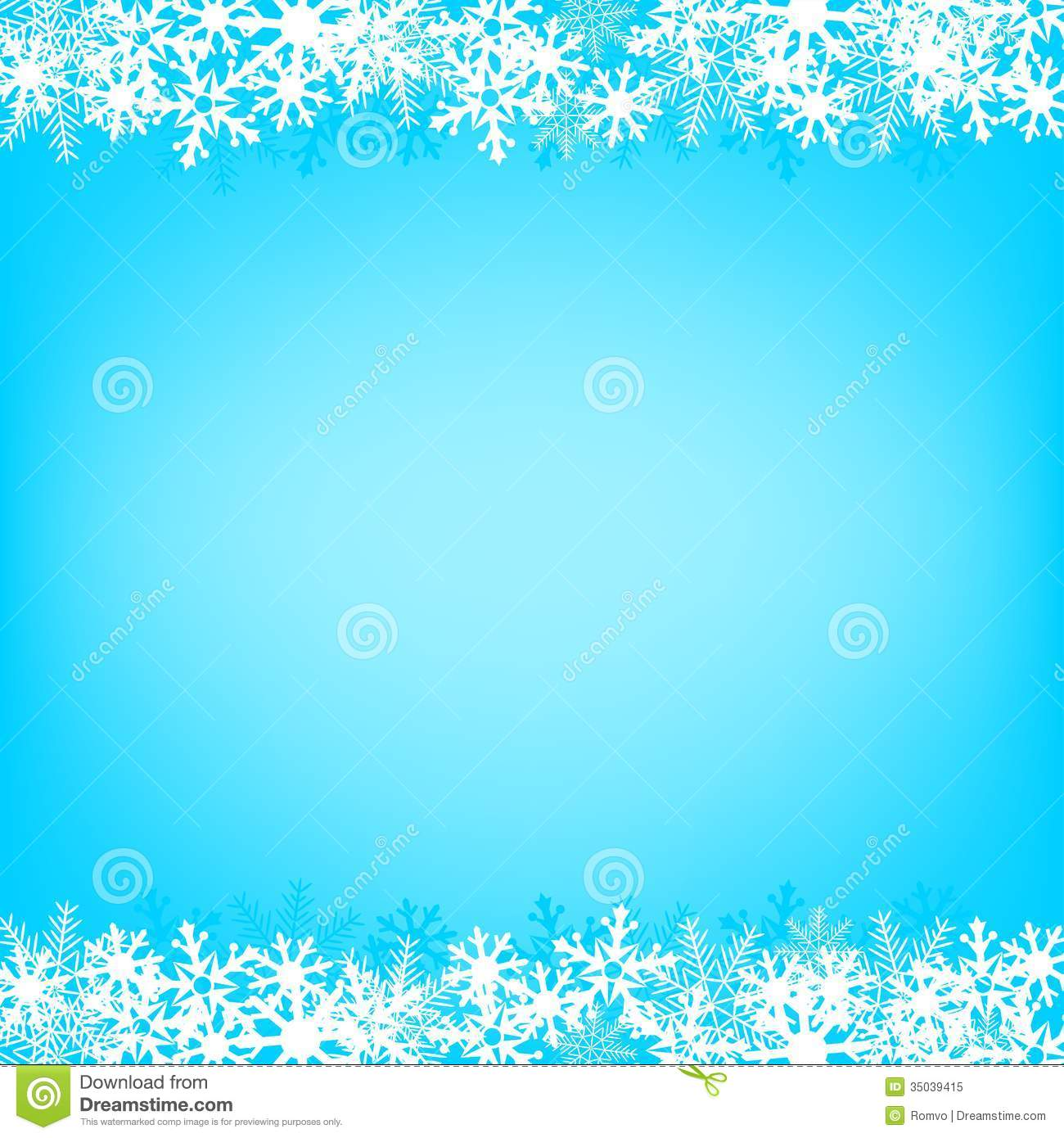 Blue Snow Background Stock Vector Illustration Of Element