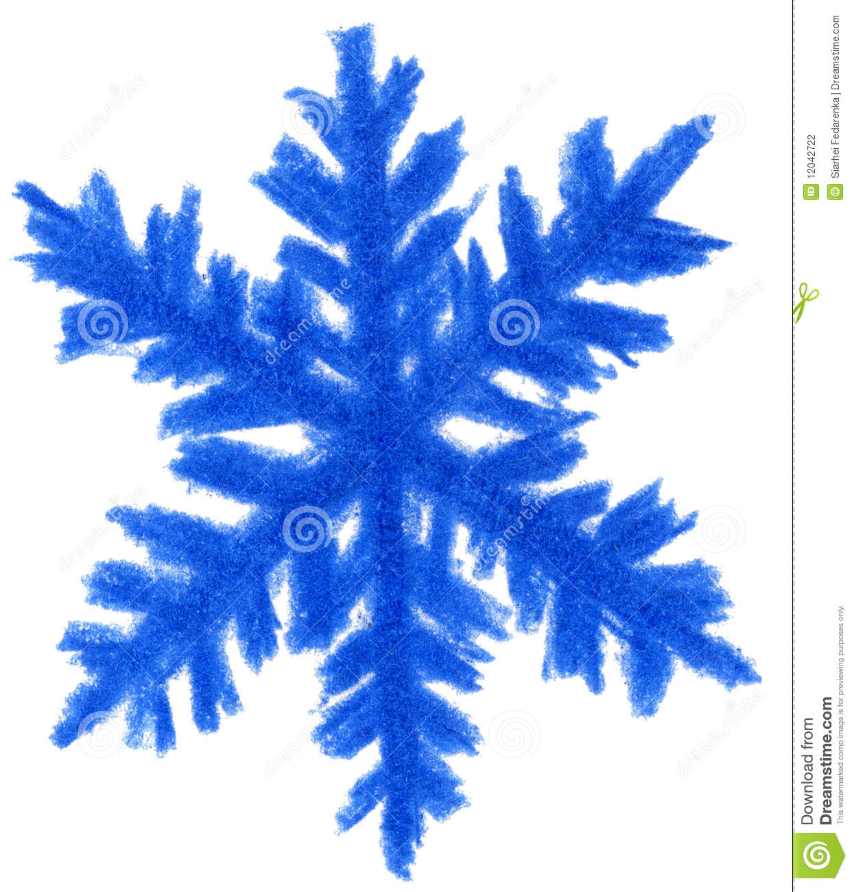 Blue Snowflake Stock Photography - Image: 12042722