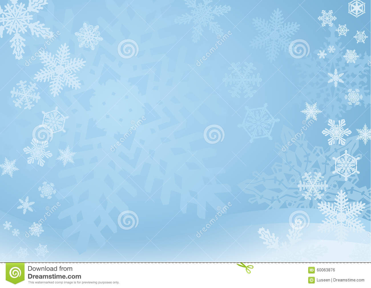 blue snowflake background stock vector image 60063876